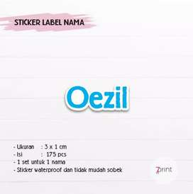 Sticker label nama