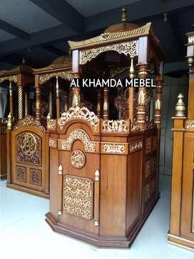 Ready Mimbar Masjid Material Kayu Jati Berkualitas #341