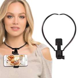 Bracket Action Durable Wearable Hands Free Neck Adjustable Black Stand