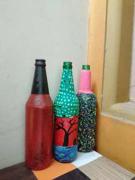 Bear bottle craft