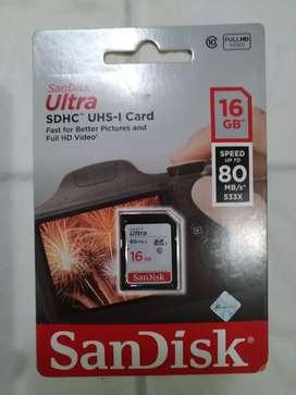 Memory Card Sandisk 16 GB 100% Original Ultra SDHC Garansi Resmi