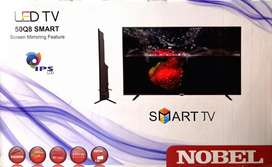 "Nobel 50"" Q8 smart LED TV ips display brand new box packed"