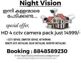 Hikvision Brand cctv camera installing