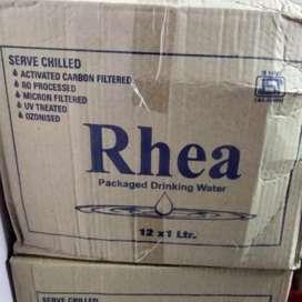 Rhea water bottles 130 rupees/case not 150rupees ok