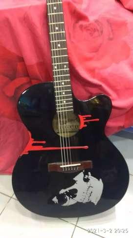 Signature desingner guitar just a month old for sale.