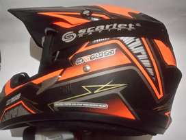 HELM CARGLOSS TRAIL SIZE XL + GOGGLE SCARLET RACING