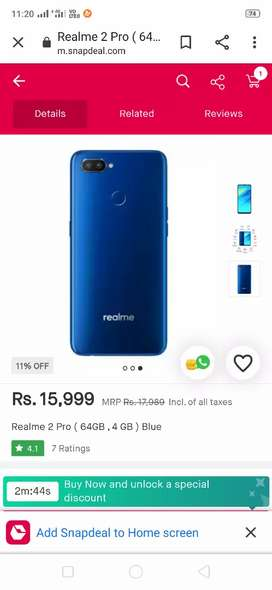 Realme 2pro good condition 2month old