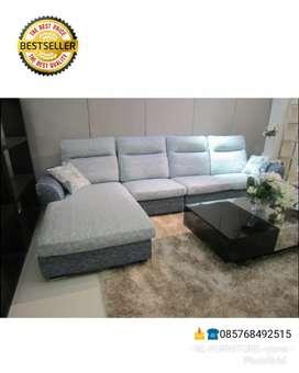 Sofa L selonjor minimalis