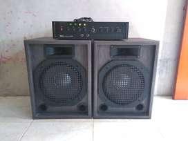 Amplifier + Speaker 12inch 1set