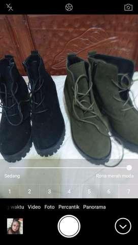 Sepatu Boots High Platform