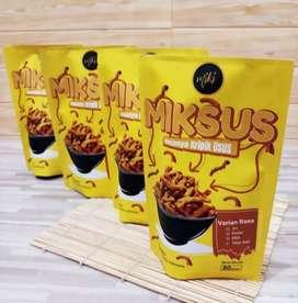 Open Peluang Reseller Keripik usus Premium Mikus