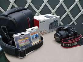 Canon EOS 60D + Kit Lens +  Canon Lens 50mm + Tamron Lens 18-200mm
