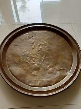 Nampan Besar dari Kuningan diameter 53 cm.