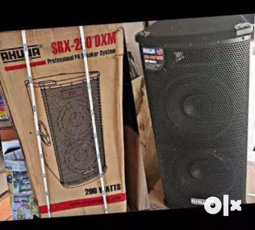 Mixer amplifier speakers mic