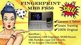Absensi Sidik Jari MURAH Alat Absen Scan Finger MBB FS50 GRATIS PASANG