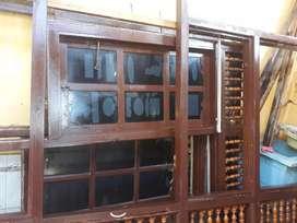 Kusen Kayu Kamper 4 pcs lengkap + jendala + pintu