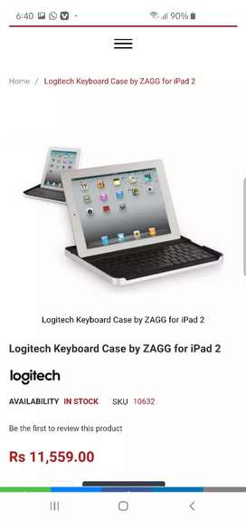 Logitech keyboard ZAGG mobile and all tab