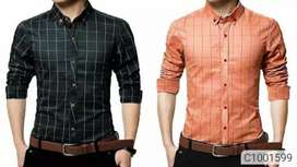 Buy 1 Get 1 Free Cotton Checkered Casual Shirts