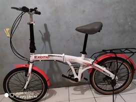 "Sepeda lipet 20"". Mulus no minus"