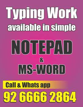 Online/Offline Data Entry Job Offered Per Assignment Income