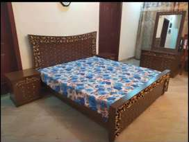 Fancy King Size Double Bedset Complete Home Furniture For Sale