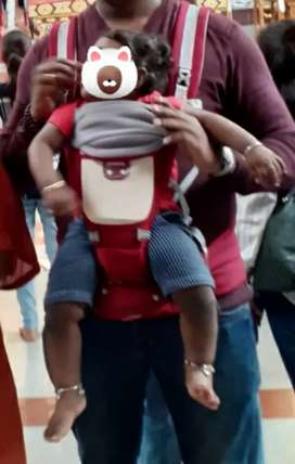 Baby carry pouch with Airbag Seat, Adjustable Waist & Lumbar Support