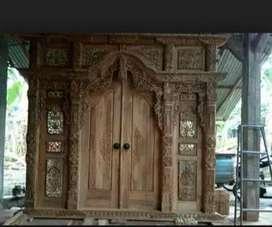 pintu gebyok tiga meter