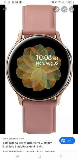 SAMSUNG WATCH ACTIVE 2 STAINLESS Steel 40MM
