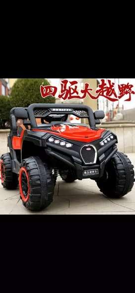 Mobil aki jeep ukuran jumbo 2 anak