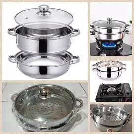 panci kukusan double (steamer cooking pot)