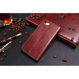 Flip Wallet Kulit Leather Cover Case Slot Kartu Iphone 6 6s Plus 6Plus