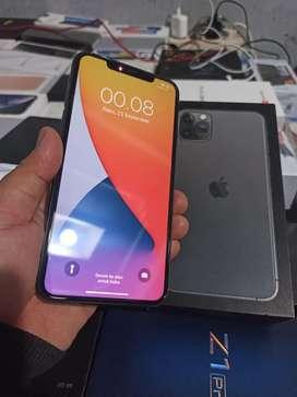 Iphone 11 Pro Max Grey 64 Gb Perfect 100% dan Ex GaranSi Nasion IBOX