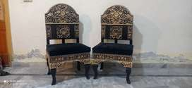 Black bed room chairs