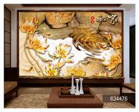 Wallpaper custom dinding kamar karakter