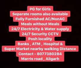 PG for Girls & Furnished Separate AC/NONAC Rooms