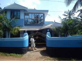 33.5 cents of property with house built on 1800 at veliyam pooyapally