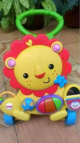 FISHER PRICE MUSICAL LION WALKER LIKE NEW