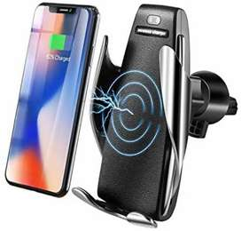 Wireless Car Charger, Automatic Clamping Fast Wireless Phone Holder