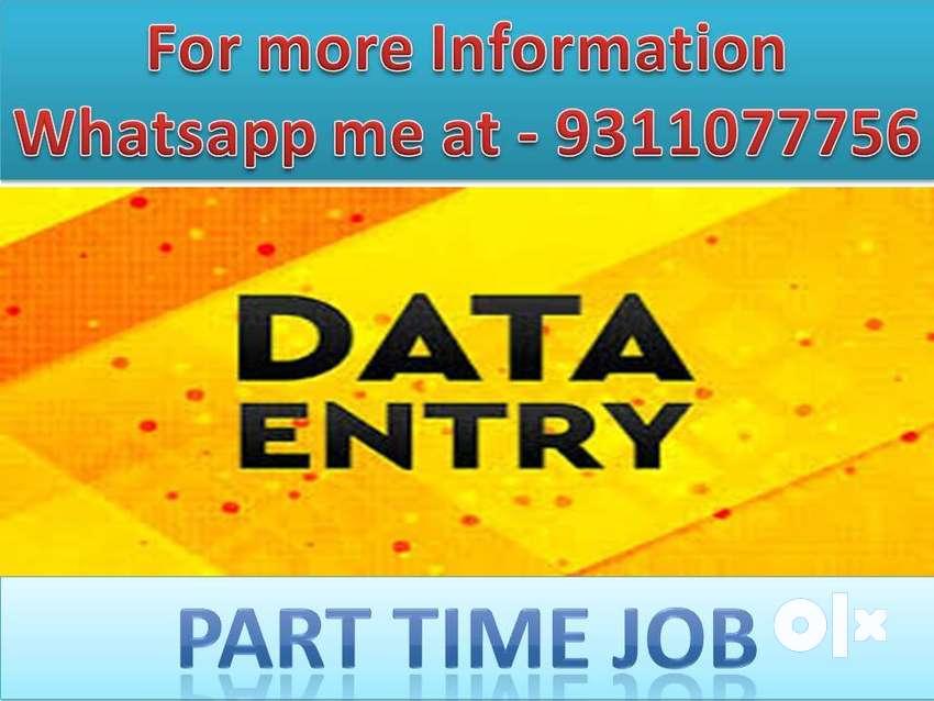 Ad Posting, Data Entry Job, part-time job,typing work home based job/- 0