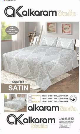 AL Karam satin bed sheet