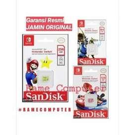 Sandisk and Nintendo Cobranded microSD XC Card SQXAT 64GB 128GB 256GB