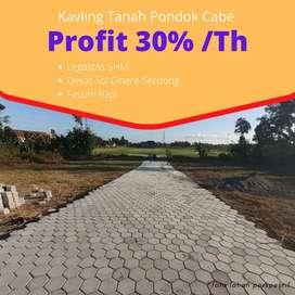 Area Tol Serpong-Cinere: Kavling Pondok Cabe Jaminan Profit 30%