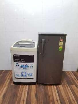 Samsung digital 6.2kg washing machine and refrigerator