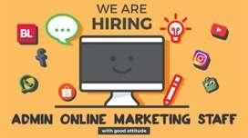 Lowongan Admin & Marketing Online Shop Toko Olahraga