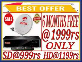 Bumper Offer*New Dth@999 Only.Airtel,TataSky,Dish Tv,Sun Dth.Hurry Up!