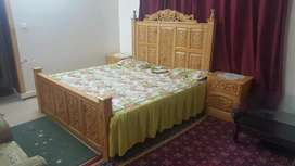 Double Bed(Deodar Wood)New style