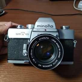 Kamera analog minolta srt101 srt 101 good condition +bonus nego