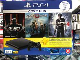 Ps4 slim 500gb complete assassries box with warranty