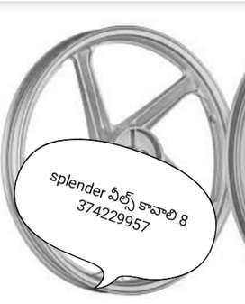 Splender chinna drum  alloy wheels kavali