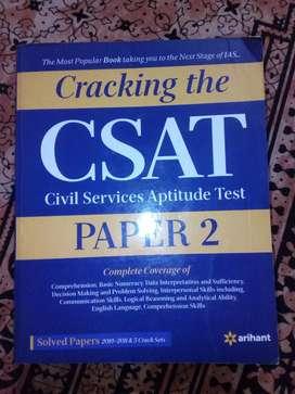 CSAT, UPSC ,, civil service Aptitude test book